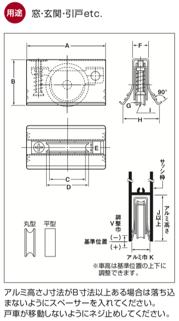 ヨコヅナ取替戸車1